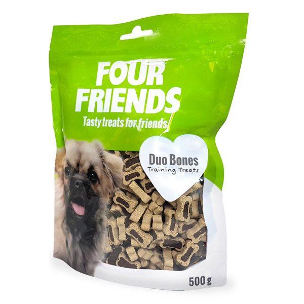 FourFriends Duo Bones Träningsgodis för hund (500g)