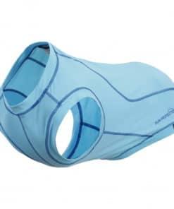 Rukka Chilly UV-protection t-shirt light blue. UV-skyddande tröja för hund med kyleffekt.