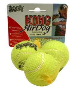 Kong Air Squeaker Tennisbollar med pip (3-pack)