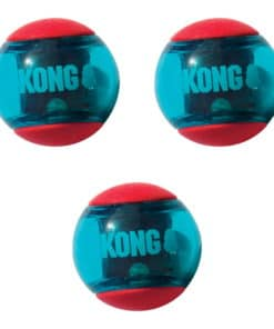 KONG Hundleksak Pipboll, Squeezz Action Red 3-pack