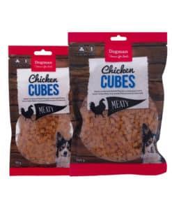 Dogman Chicken Cubes, kycklinggodis för hund