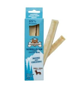 Coucour Himalayan Cheese Bone, Small, 2-pack